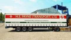 Pele E. H. Payne Transporte de semi-reboque cort