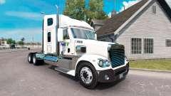 A pele da FedEx caminhão Freightliner Coronado