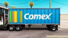 Pele Comex em um all-metal trailer