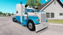 A pele de Bebê Azul e Branco para o caminhão Pet