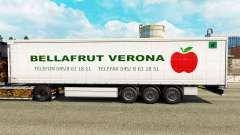 Pele Bellafrut Verona na cortina semi-reboque