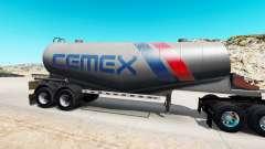 Pele Cemex semi-tanque de cimento