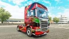 Vermelho Efeito de pele para o Scania truck