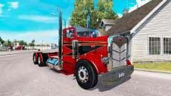 O Vermelho e Preto de pele para o caminhão Peter