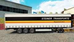Steiner Transporte de pele no trailer cortina