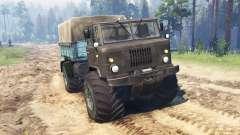 GAZ-66 Mamute Kuzma para Spin Tires