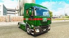 Sada Transportes pele para Iveco unidade de trac