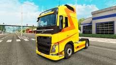 Amarelo pele para a Volvo caminhões