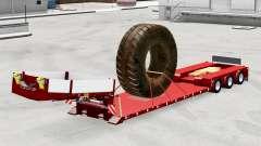 Baixa varrer com a carga de pneus grandes