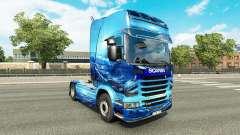 A luz Azul da pele para o caminhão Scania
