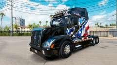 Bandeira americana pele para a Volvo caminhões V