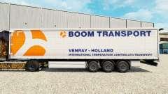Pele Boom de Transporte no semi-reboque cortina
