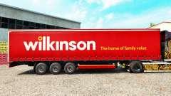 Pele Wilkinson em uma cortina semi-reboque