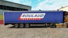 Pele Roulaud Transportes em uma cortina semi-reb