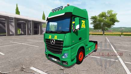 Mercedes-Benz Actros MP4 update para Farming Simulator 2017