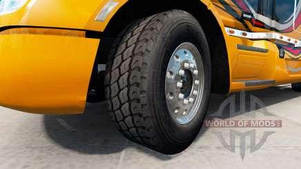 Novas jantes e pneus v1.2.1 para American Truck Simulator