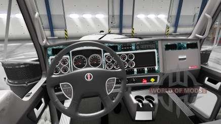 Interior em Madeira para Kenworth W900 para American Truck Simulator