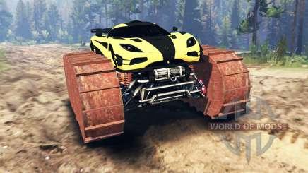 Koenigsegg One:1 prototype para Spin Tires