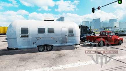 Trailer Airstream no trânsito para American Truck Simulator