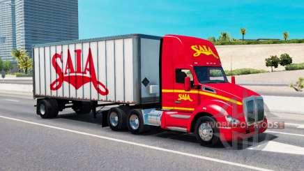 Tráfego de carga nas cores das empresas de transporte para American Truck Simulator