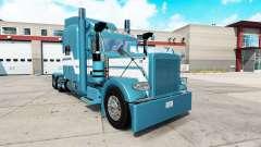Azul Gelo pele para o caminhão Peterbilt 389