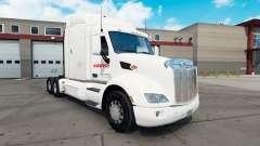 Estafeta de pele para o caminhão Peterbilt 579