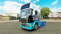 A pele do trator Scania
