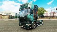 Pele Fantasia Navio no tractor Scania