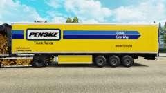 A Penske pele para o refrigerados trailer