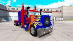 Optimas Prime skin para o caminhão Peterbilt 389