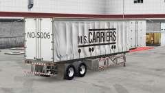 Pele M. S. Transportadoras em uma cortina semi-r