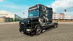 Escuro Reaper pele para caminhão Scania T