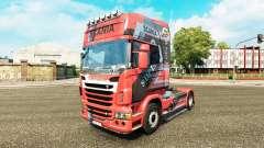 Projeto da pele sobre o N7 trator Scania