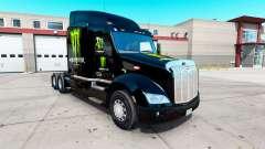 Monster Energy pele para o caminhão Peterbilt 57