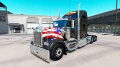A pele da Harley-Davidson no caminhão Kenworth W