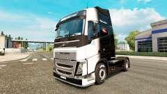 O Preto-e-Branco de pele para a Volvo caminhões