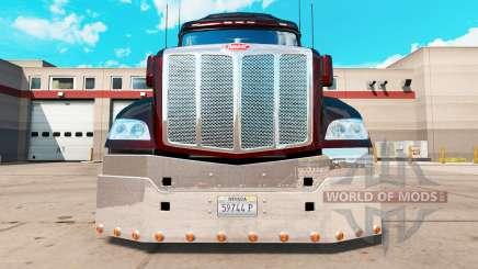 Cromado pára-choques para um Peterbilt 579 trator para American Truck Simulator