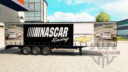 A pele da NASCAR em uma cortina semi-reboque para Euro Truck Simulator 2