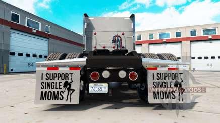 Guarda-lamas eu Apoio a Mães solteiras v2.1 para American Truck Simulator