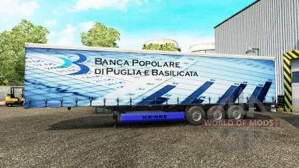 Peles em uma cortina semi-reboque para Euro Truck Simulator 2