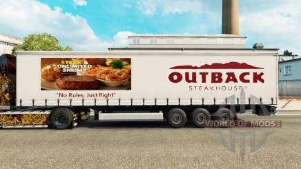 Pele Outback Steakhouse em uma cortina semi-reboque para Euro Truck Simulator 2