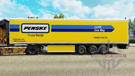 A Penske pele para o refrigerados trailer para Euro Truck Simulator 2