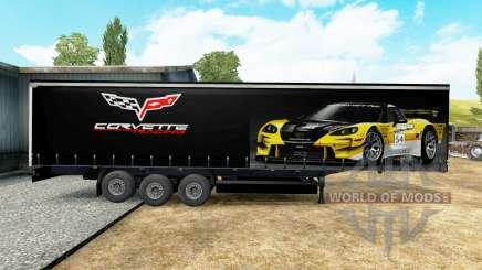 A pele do Corvette Racing trailer para Euro Truck Simulator 2