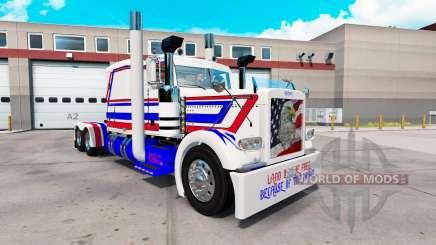 América pele para o caminhão Peterbilt 389 para American Truck Simulator