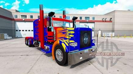 Optimas Prime skin para o caminhão Peterbilt 389 para American Truck Simulator