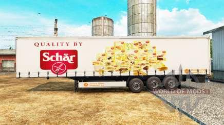 Pele Schar em uma cortina semi-reboque para Euro Truck Simulator 2