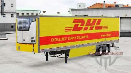 Pele DHL para reefer semi-reboque para American Truck Simulator