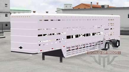 Semi-reboque-gado transportadora para American Truck Simulator