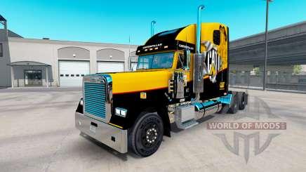 Скин Caterpillar на Freightliner Clássico XL para American Truck Simulator