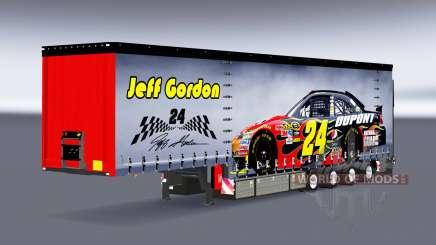 Cortina semi-reboque Krone NASCAR para Euro Truck Simulator 2